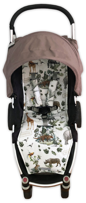 Safari Adventure Cotton Pram Liner to fit Steelcraft Agile/Agile Plus/Agile Elite