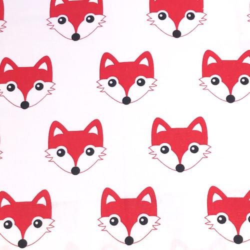 Fox Red cotton reversing to black polarfleece