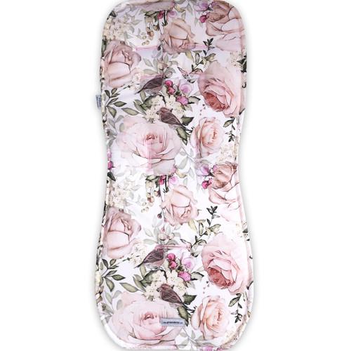 English Rose Cotton Pram Liner to fit Silvercross