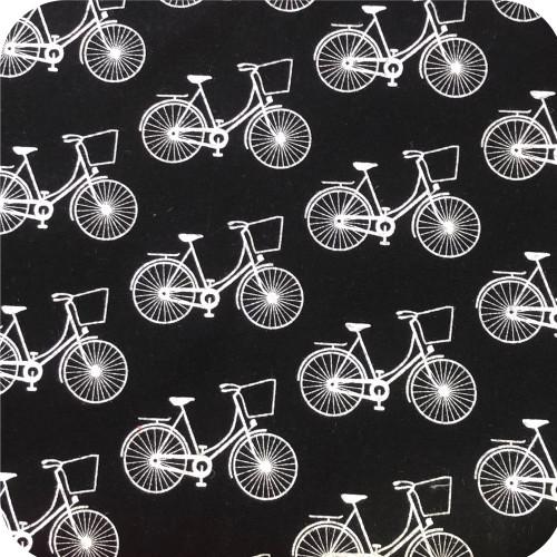 Black Retro Bikes 100% Cotton