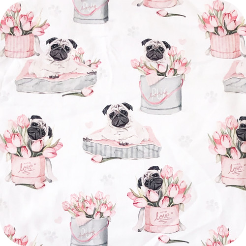 Love Pugs 100% Cotton
