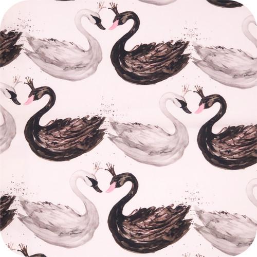 Swans Black & White 100% Cotton