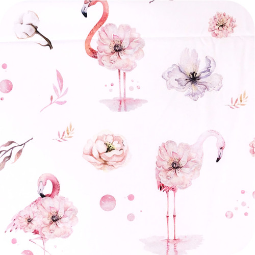 Flamingo Floral Pink 100% Cotton