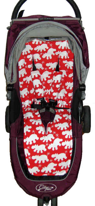 Hippo Red Cotton Universal Fit Pram Liner