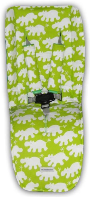 Hippo Green Cotton Universal Fit Pram Liner