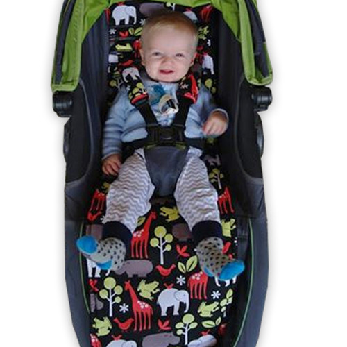 Zoology Black Cotton Pram Liner to fit Baby Jogger