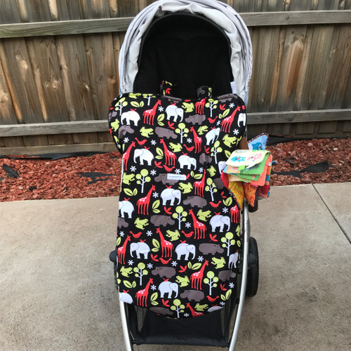 Zoology Black Snuggle Bag to fit Uppababy