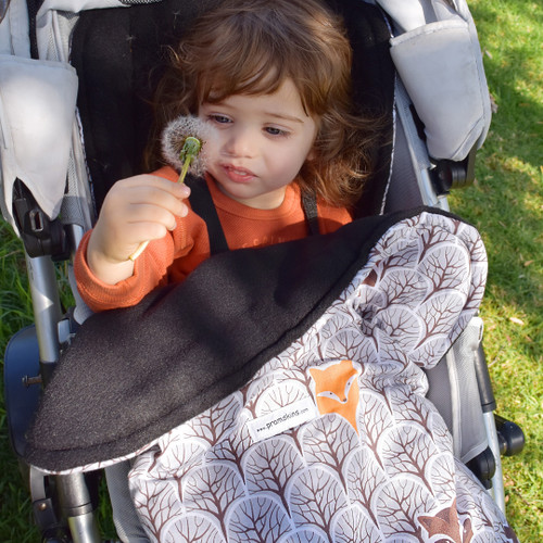 Peekaboo Grey Snuggle Bag to fit Mountain Buggy Nano/Cosmopolitan