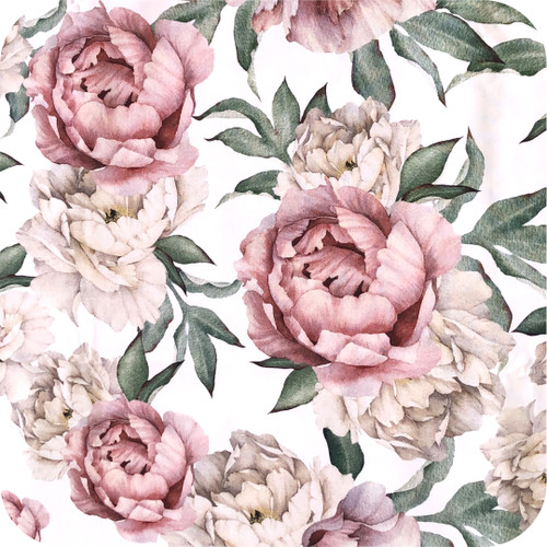 Peonies 100% Cotton