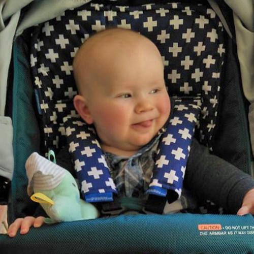 Crosses White on Navy Pram Liner to fit Baby Jogger City Mini GT