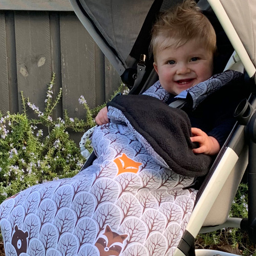 Peekaboo Grey Snuggle Bag to fit Phil & Teds