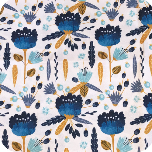 Wild Cornflower Waterproof fabric
