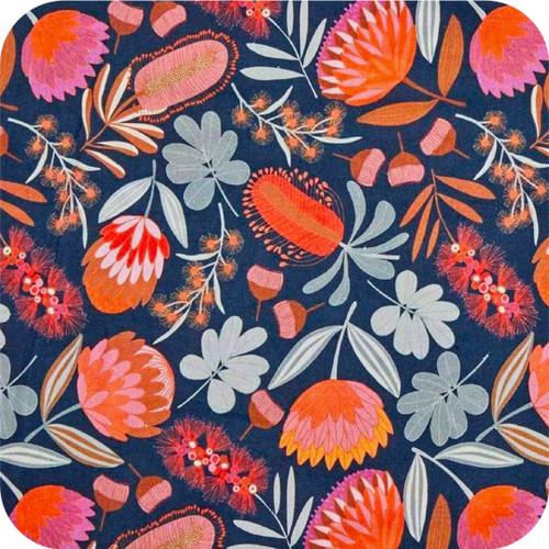 Australian Flower Print 100% cotton