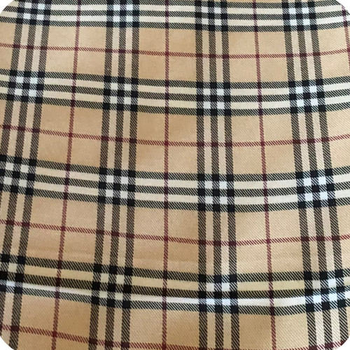 Tartan polycotton reversing to black cotton
