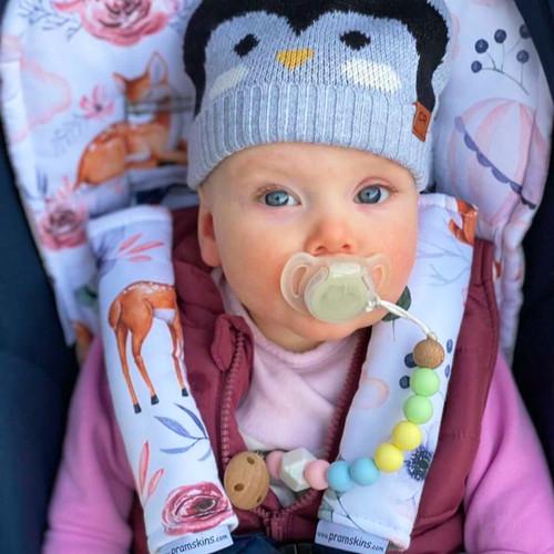Baby Deer Cotton Pram Liner for Baby Jogger