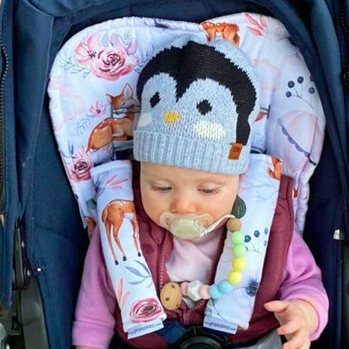 Baby Deer Cotton Pram Liner to fit Mountain Buggy