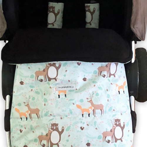 Forest Friends Snuggle Bag with waterproof footmuff