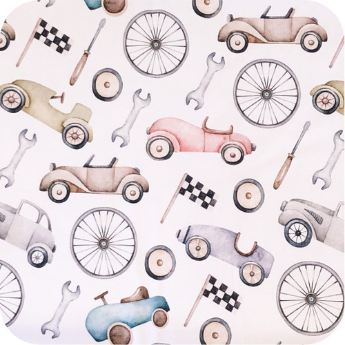 Retro Cars 100% Cotton
