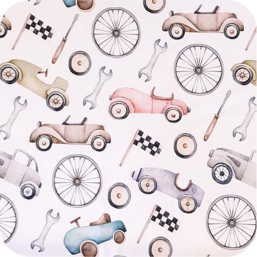 Retro Cars 100 % Cotton