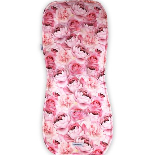 Roses & Peonies Cotton Pram Liner to fit Silvercross
