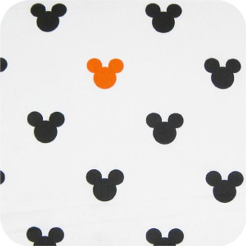 Mickey Black & Tangerine 100% Cotton