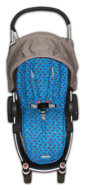 Ladybug universal fit pram liner set (harness strap covers optional)