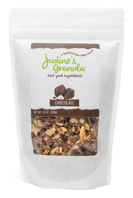 Just Judine - Healthy Whole Grain Granola with Coconut Flakes and Plant-Based Superfoods, Non-GMO, Gluten-Free, Vegan, Chocolate, 10 oz