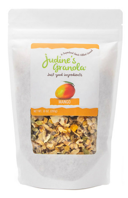 Just Judine - Healthy Whole Grain Granola with Coconut Flakes and Plant-Based Superfoods, Mango, 10oz
