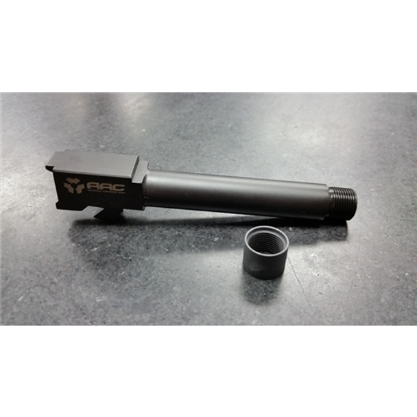 ADVANCED ARMAMENT CORP 847128008828 Glock 19 9mm M13.5X1Lh Thread, Nitrided, With Thread Protector