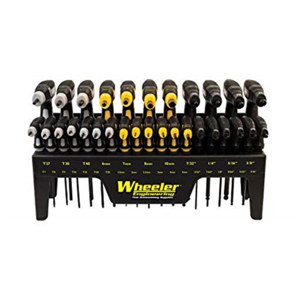 Wheeler Engineering 661120412724 SAE/Metric/Hex/Torx P-Handle Driver Set, 30 pc