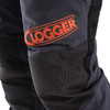 Clogger Grey Spider Women's Tree Climbing Pants Front knee View