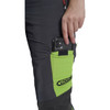 Clogger Grey Zero Women's Chainsaw Pant Close Up Cellphone Pocket