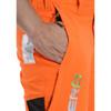 Hi-Vis Orange Zero Men's Chainsaw Pant - Zoom Side Pocket