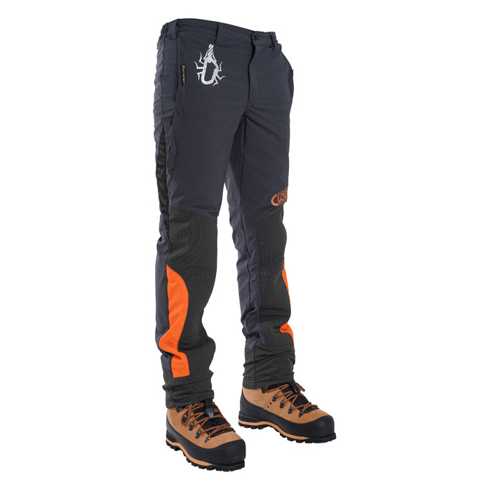 Grey Spider Men's Tree Climbing Pants Front angle View