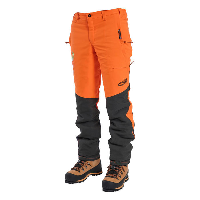 Hi-Vis Orange Zero Men's Chainsaw Pant - Side