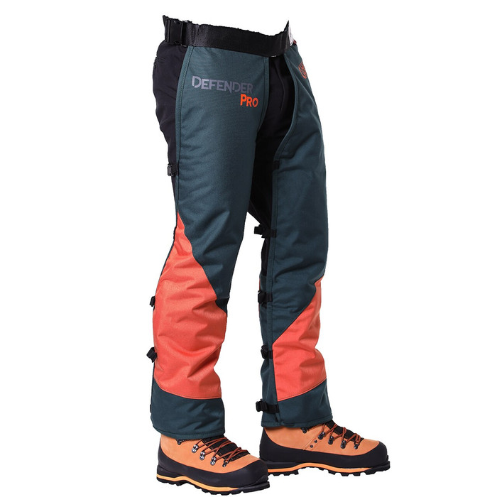 DefenderPRO calf wrap 360 chainsaw chaps side