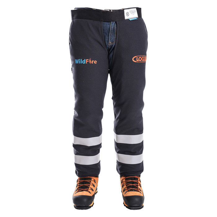 Wildfire Arc Rated Fire Resistant Chainsaw Chaps Apron Style Front View