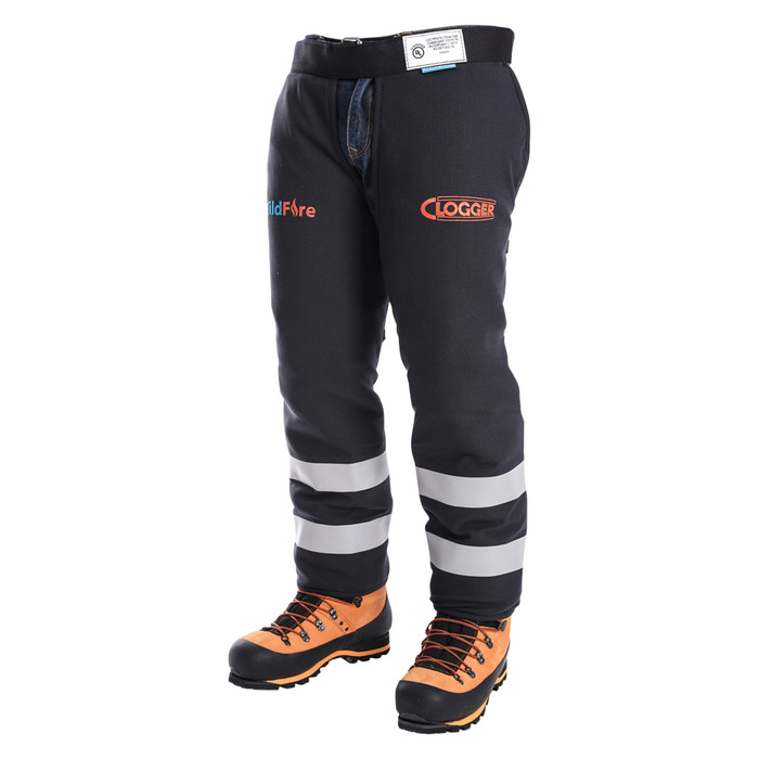 Wildfire Arc Rated Fire Resistant Chainsaw Chaps Apron Style Front Left Side View