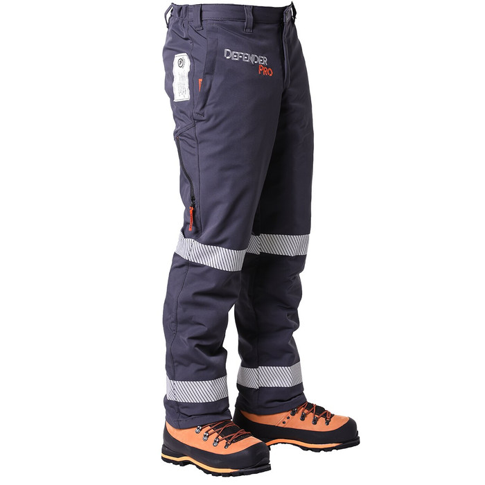 DefenderPRO Chainsaw Pants Zipped Vents Side View