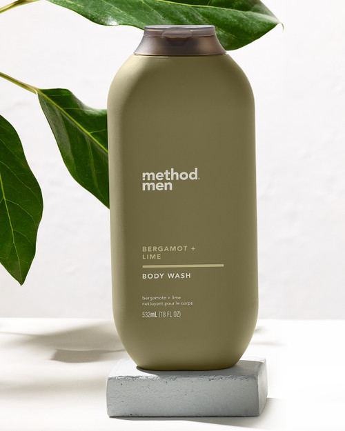 method men bergamot & lime body wash, 18 fl oz
