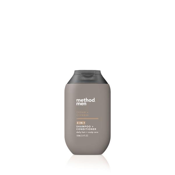 cedar + cypress travel 2-in-1 shampoo + conditioner