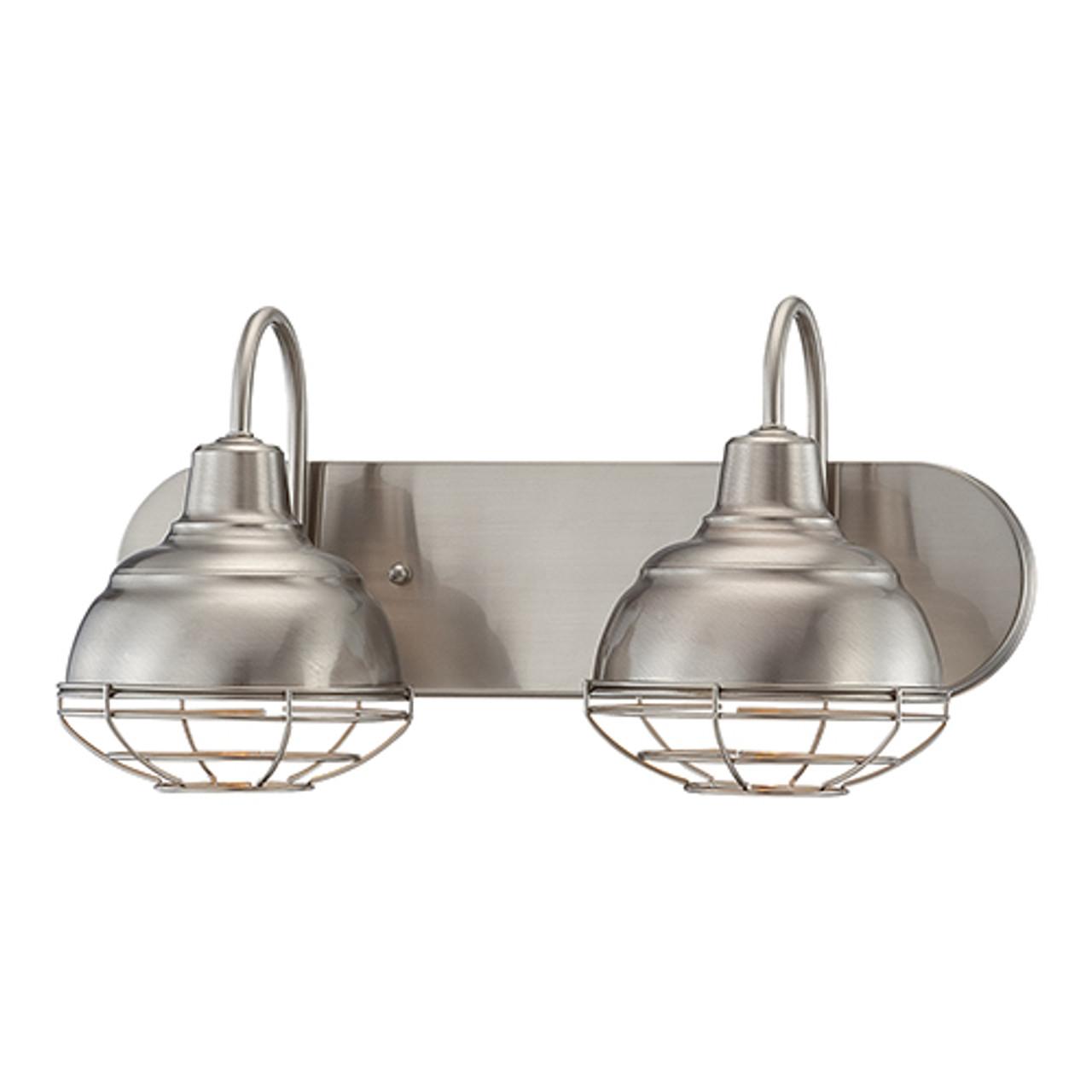 Millennium Lighting 5422 Sn Neo Industrial Vanity Light In Satin Nickel At Clw Lighting