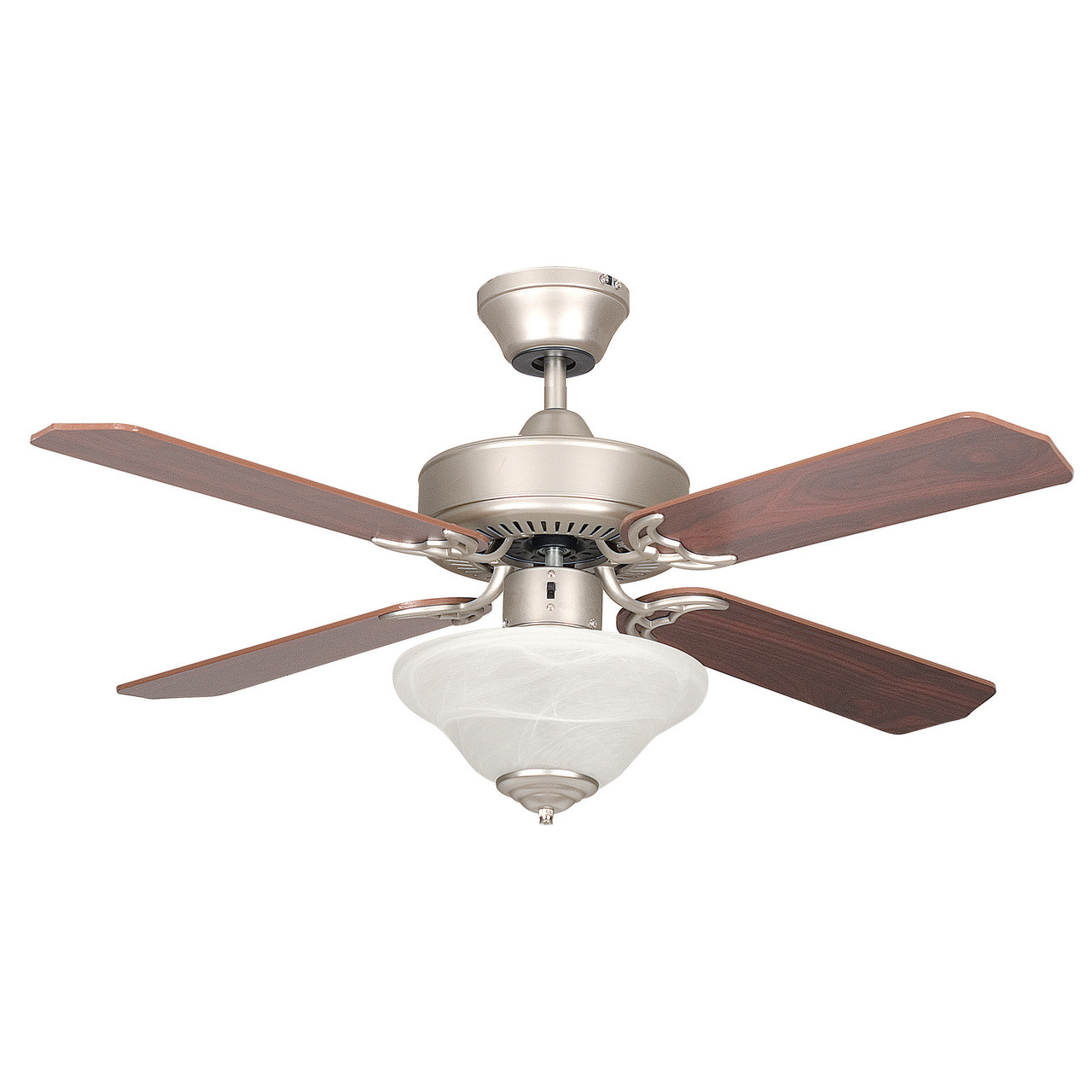 Concord Fans Rosewood Satin Nickel 42 Inch Three Light LED