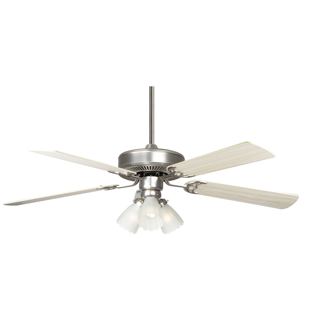 Concord Fans 52ha5esn 52 Home Air Ceiling Fan With 3 Light Kit In Satin Nickel At Clw Lighting