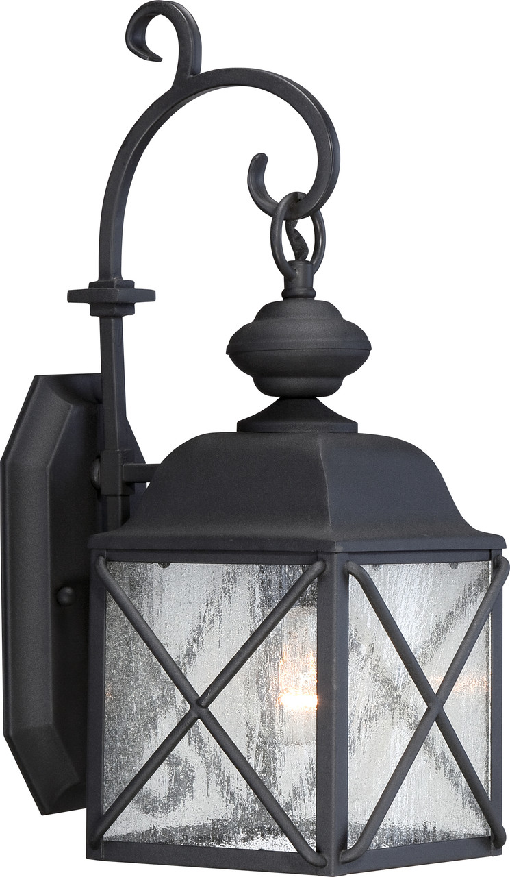 Nuvo Wingate 1 Light Outdoor Hanging Fixture with Clear Seed Glass