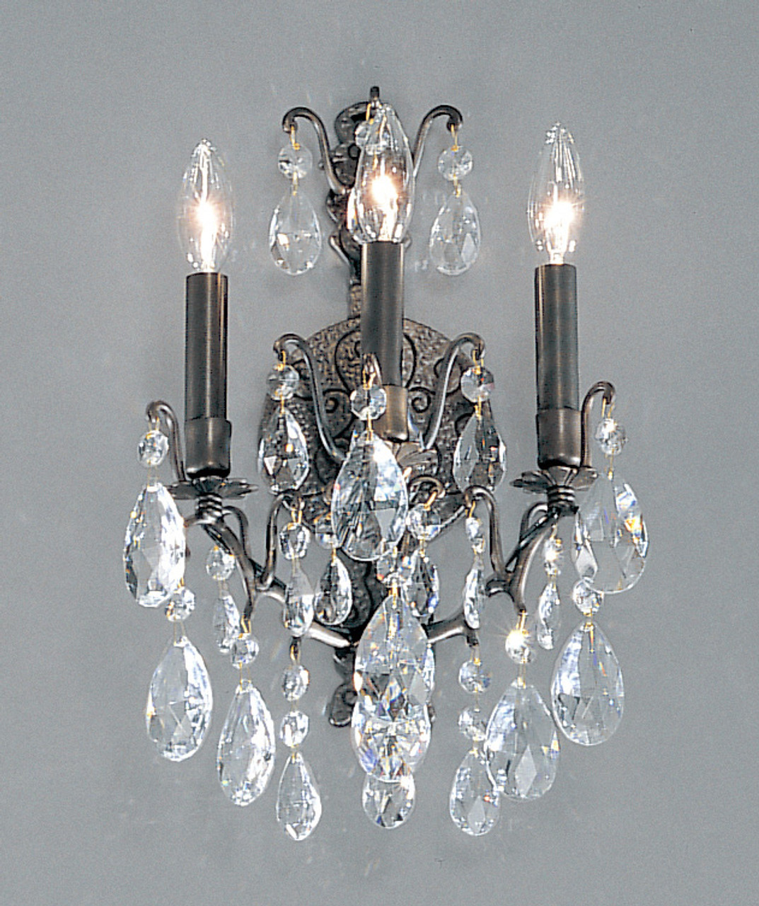 Image of: Classic Lighting 9001 Ab Sc Versailles Crystal Wall Sconce In Antique Bronze At Clw Lighting