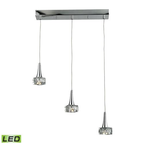 ELK Lighting 17166-3 Alea 3 Light Pendant in Polished Chrome