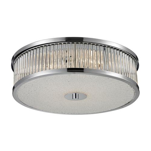ELK Lighting 81041/4 Amersham 4-Light Flush Mount in Chrome with Clear Glass Rod Diffuser