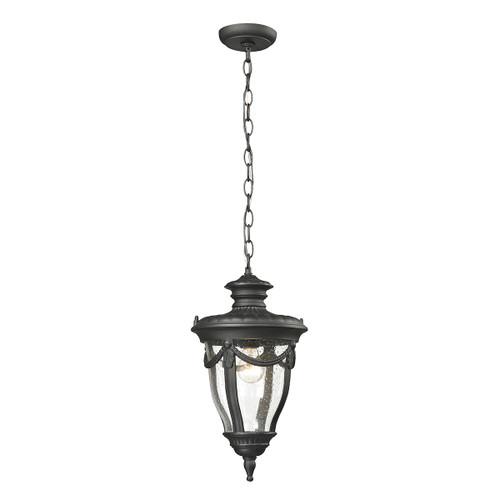 ELK Lighting 45078/1 Anise 1-Light Outdoor Pendant in Textured Matte Black