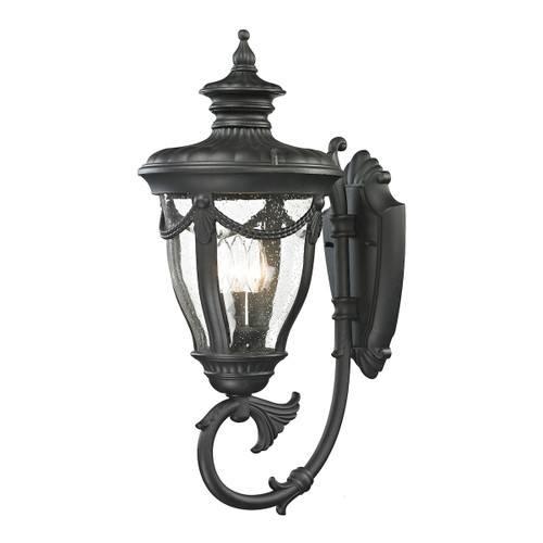 ELK Lighting 45077/3 Anise 3-Light Outdoor Wall Lamp in Textured Matte Black